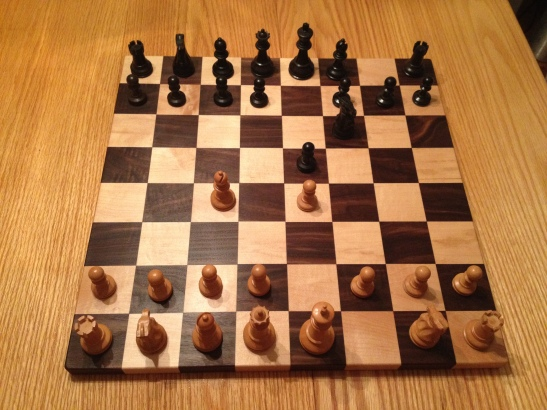 Custom Maple and Walnut Chess Board